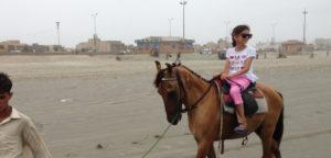 Horse riding at clifton beach